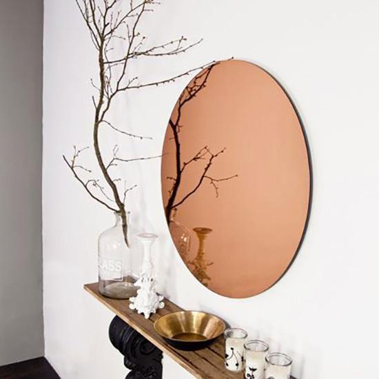 arredobagno: specchio rotondo design italiano