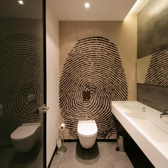 arredo bagno: bathroom in black